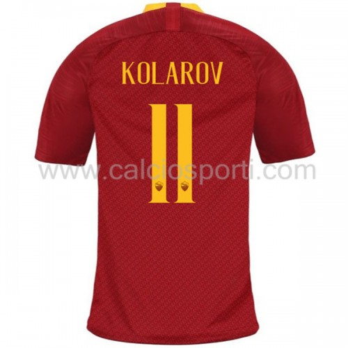 AS Roma 2018-19 Aleksandar Kolarov 11 Short Sleeve Home Soccer Jersey