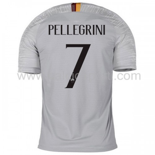 AS Roma 2018-19 Lorenzo Pellegrini 7 Short Sleeve Away Soccer Jersey