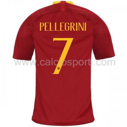 AS Roma 2018-19 Lorenzo Pellegrini 7 Short Sleeve Home Soccer Jersey