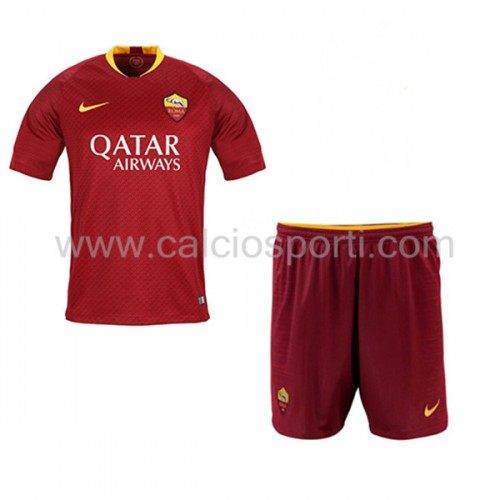 AS Roma Kids 2018-19 Short Sleeve Home Soccer Jersey