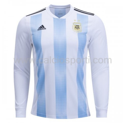 Argentina 2018 Long Sleeve Home Soccer Jersey