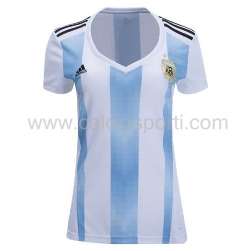 Argentina Womens 2018 World Cup Short Sleeve Home Soccer Jersey