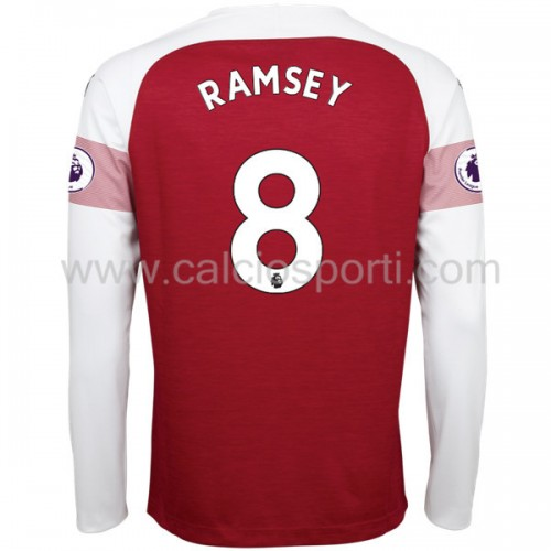 Arsenal 2018-19 Aaron Ramsey 8 Long Sleeve Home Soccer Jersey
