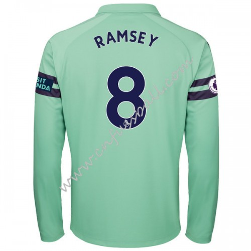 Arsenal 2018-19 Aaron Ramsey 8 Long Sleeve Third Soccer Jersey