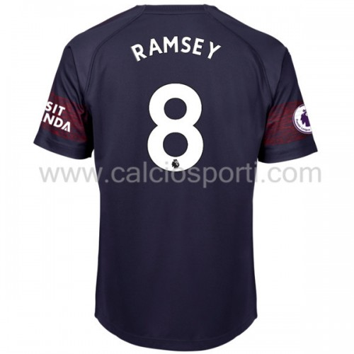 Arsenal 2018-19 Aaron Ramsey 8 Short Sleeve Away Soccer Jersey