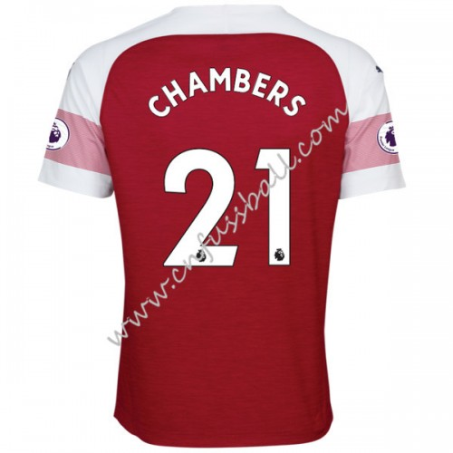 Arsenal 2018-19 Calum Chambers 21 Short Sleeve Home Soccer Jersey
