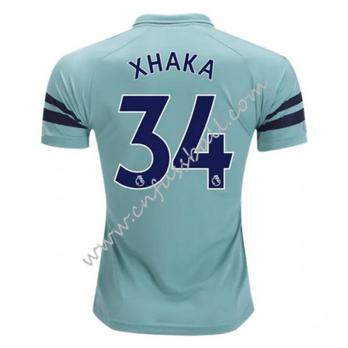 Arsenal 2018-19 Granit Xhaka 34 Short Sleeve Third Soccer Jersey