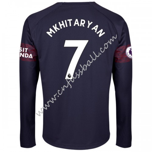 Arsenal 2018-19 Henrikh Mkhitaryan 7 Long Sleeve Away Soccer Jersey