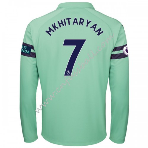 Arsenal 2018-19 Henrikh Mkhitaryan 7 Long Sleeve Third Soccer Jersey