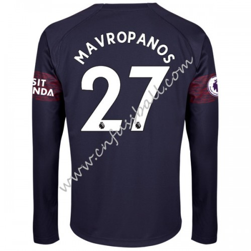 Arsenal 2018-19 Konstantinos Mavropanos 27 Long Sleeve Away Soccer Jersey