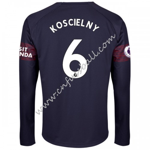 Arsenal 2018-19 Laurent Koscielny 6 Long Sleeve Away Soccer Jersey