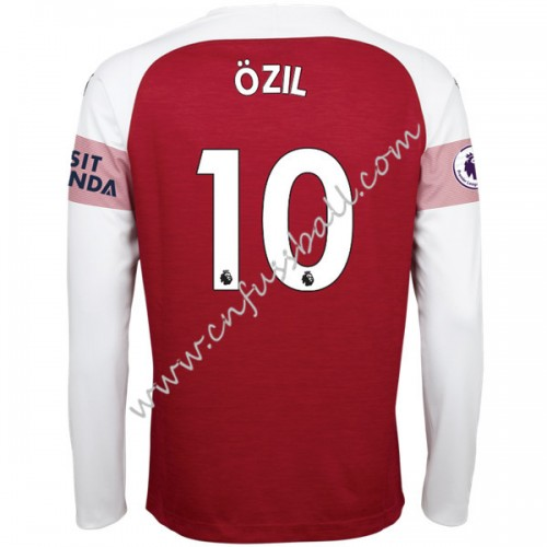 Arsenal 2018-19 Mesut Ozil 10 Long Sleeve Home Soccer Jersey