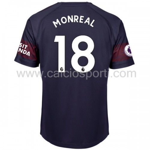 Arsenal 2018-19 Nacho Monreal 18 Short Sleeve Away Soccer Jersey