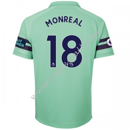 Arsenal 2018-19 Nacho Monreal 18 Short Sleeve Third Soccer Jersey