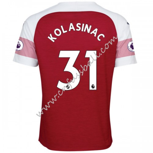 Arsenal 2018-19 Sead Kolasinac 31 Short Sleeve Home Soccer Jersey