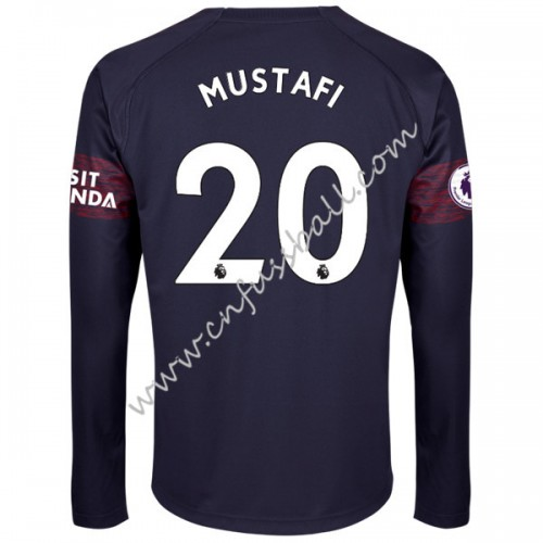 Arsenal 2018-19 Shkodran Mustafi 20 Short Long Away Soccer Jersey