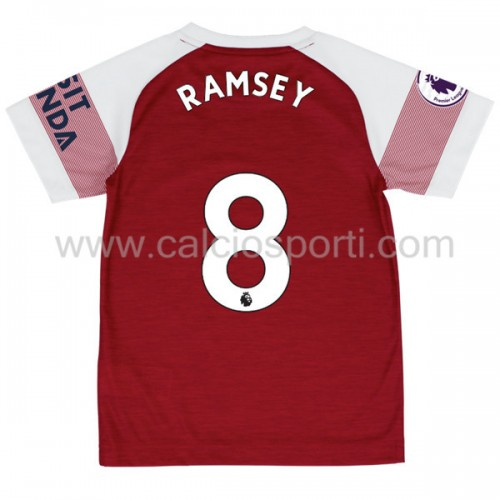 Arsenal Kids 2018-19 Aaron Ramsey 8 Short Sleeve Home Soccer Jersey