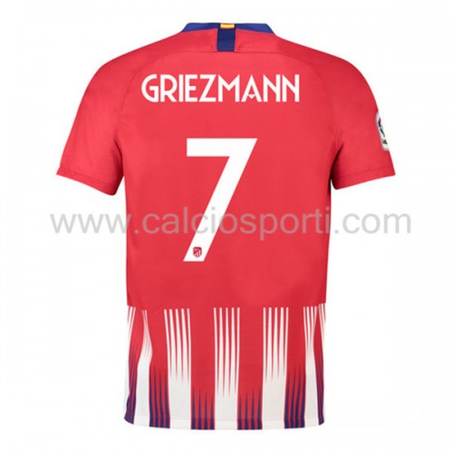 Atletico Madrid 2018-19 Antoine Griezmann 7 Short Sleeve Home Soccer Jersey