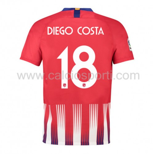 Atletico Madrid 2018-19 Diego Costa 18 Short Sleeve Home Soccer Jersey
