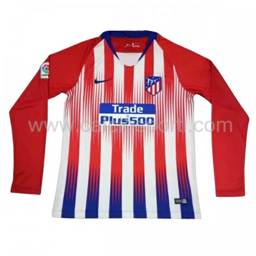 Atletico Madrid 2018-19 Long Sleeve Home Soccer Jersey