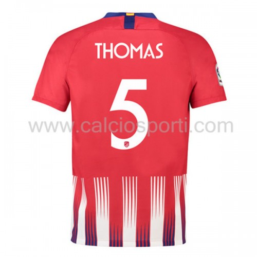 Atletico Madrid 2018-19 Thomas Partey 5 Short Sleeve Home Soccer Jersey