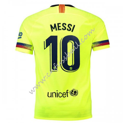 Barcelona 2018-19 Lionel Messi 10 Short Sleeve Away Soccer Jersey