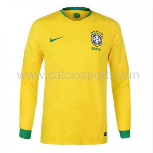 Brazil 2018 Long Sleeve Home Soccer Jersey