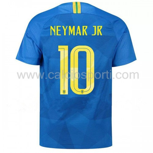 Brazil 2018 Neymar JR 10 Short Sleeve Away Soccer Jersey