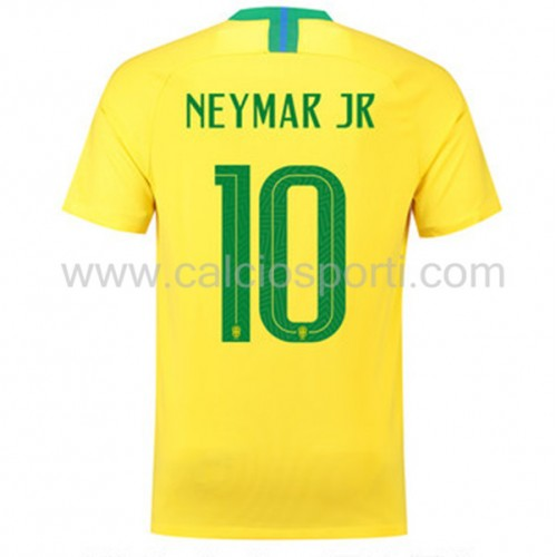 Brazil 2018 Neymar JR 10 Short Sleeve Home Soccer Jersey