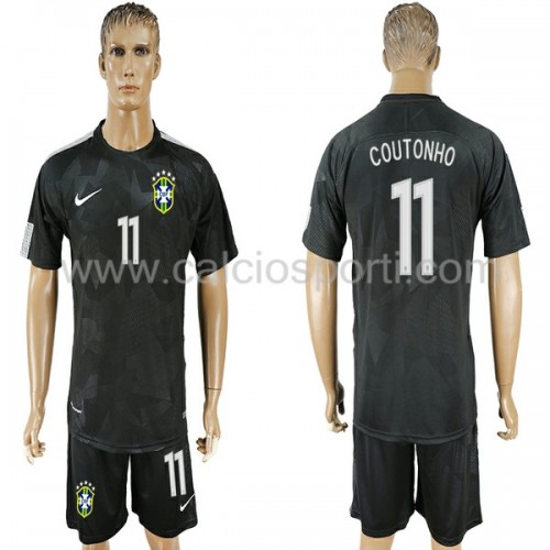 Brazil 2018 Philippe Coutinho 11 Short Sleeve Third Soccer Jersey
