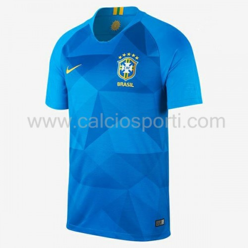 Brazil 2018 Short Sleeve Away Soccer Jersey