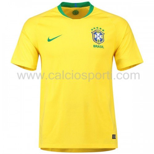 Brazil 2018 Short Sleeve Home Soccer Jersey