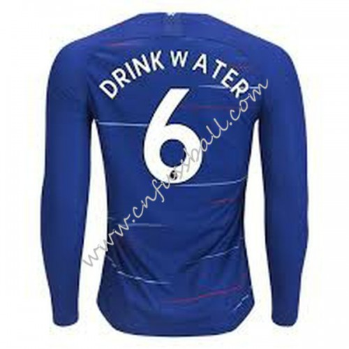 Chelsea 2018-19 Danny Drinkwater 6 Long Sleeve Home Soccer Jersey