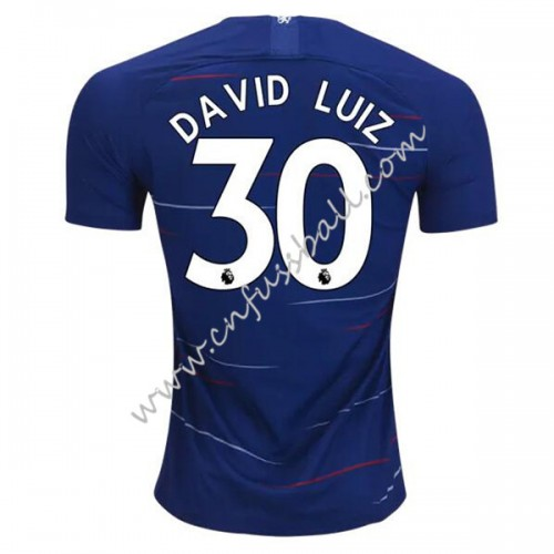 Chelsea 2018-19 David Luiz 30 Short Sleeve Home Soccer Jersey
