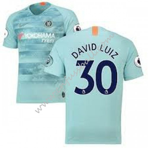 Chelsea 2018-19 David Luiz 30 Short Sleeve Third Soccer Jersey