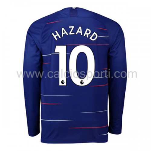 Chelsea 2018-19 Eden Hazard 10 Long Sleeve Home Soccer Jersey