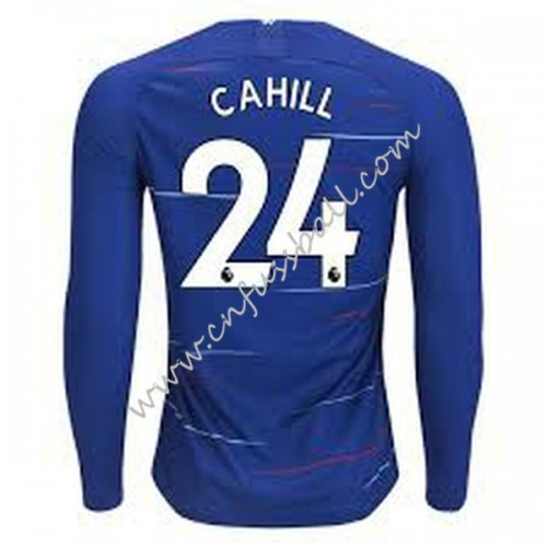 Chelsea 2018-19 Gary Cahill 24 Long Sleeve Home Soccer Jersey