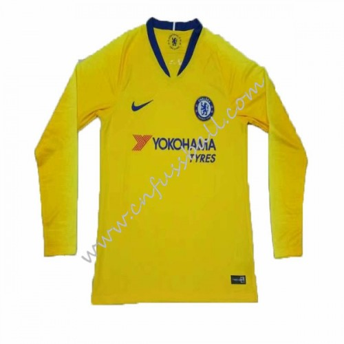 Chelsea 2018-19 Long Sleeve Away Soccer Jersey