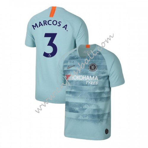Chelsea 2018-19 Marcos Alonso 3 Short Sleeve Third Soccer Jersey