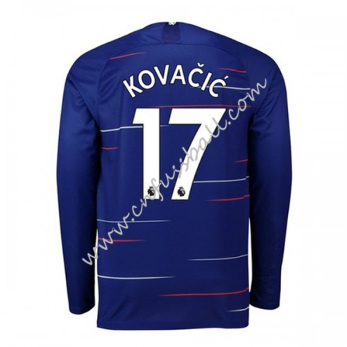 Chelsea 2018-19 Mateo Kovacic 17 Long Sleeve Home Soccer Jersey
