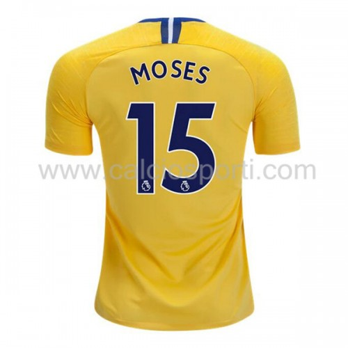 Chelsea 2018-19 Victor Moses 15 Short Sleeve Away Soccer Jersey