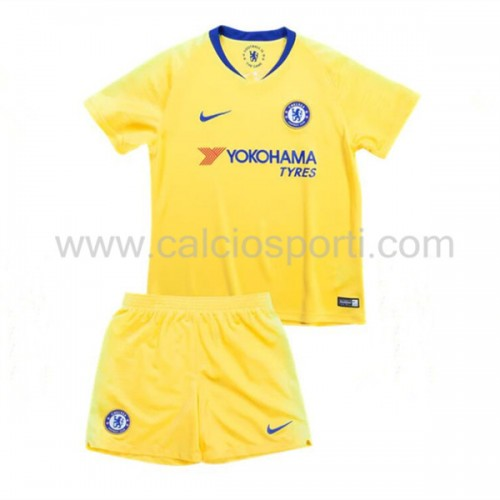 Chelsea Kids 2018-19 Short Sleeve Away Soccer Jersey