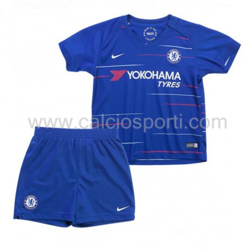 Chelsea Kids 2018-19 Short Sleeve Home Soccer Jersey