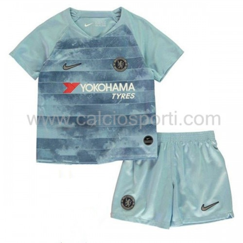 Chelsea Kids 2018-19 Short Sleeve Third Soccer Jersey