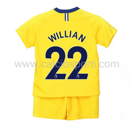 Chelsea Kids 2018-19 Willian Borges da Silva 22 Short Sleeve Away Soccer Jersey