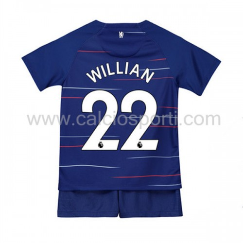 Chelsea Kids 2018-19 Willian Borges da Silva 22 Short Sleeve Home Soccer Jersey