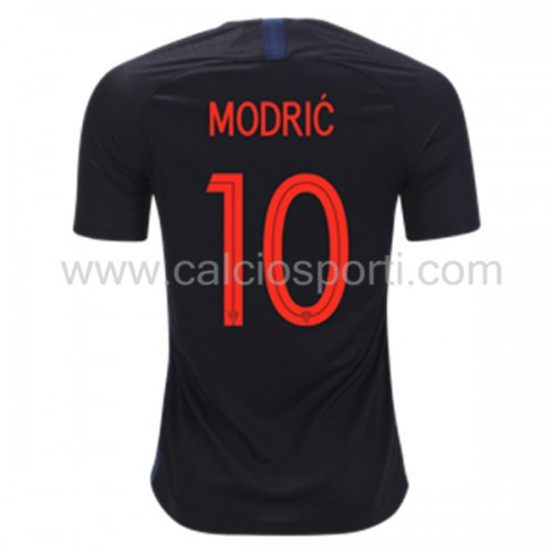 Croatia 2018 Luka Modric 10 Short Sleeve Away Soccer Jersey