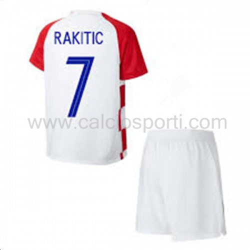 Croatia Kids 2018 World Cup I. Rakitic 7 Short Sleeve Home Soccer Jersey
