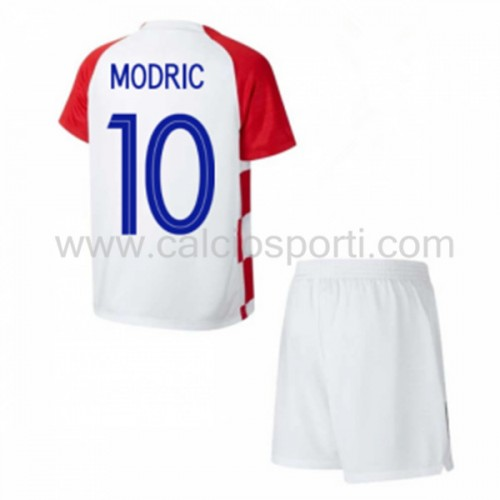 Croatia Kids 2018 World Cup Modric 10 Short Sleeve Home Soccer Jersey