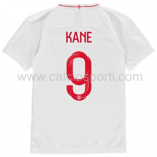 England Kids 2018 World Cup Harry Kane 9 Short Sleeve Home Soccer Jersey